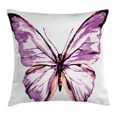 Artistic Butterfly Wings Square Pillow Cover Size: 18 x 18