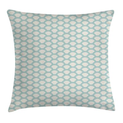 Simple Maritime Decor Square Pillow Cover Size: 16 x 16