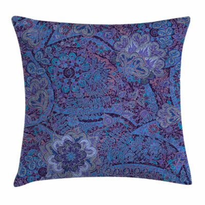 Indian Ethnic Tie-Die Paisley Square Pillow Cover Size: 18 x 18