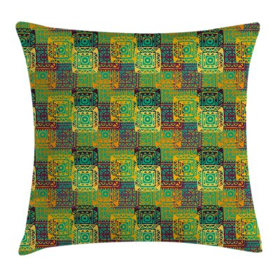 Ethnic Folk Artistic Native Cushion Pillow Cover Size: 24 x 24