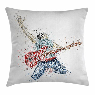Guitarist Dots Square Pillow Cover Size: 20 x 20
