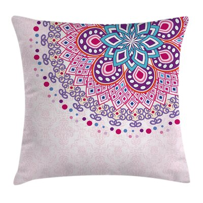 Mandala India Ornamental Figure Cushion Pillow Cover Size: 24 x 24