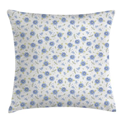 Flourishing Summer Roses Cushion Pillow Cover Size: 18 x 18