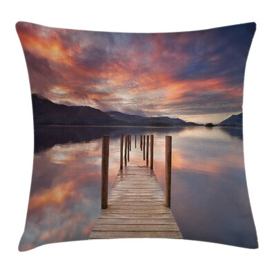 Modern Landscape Pillow Cover with Zipper Size: 24 x 24