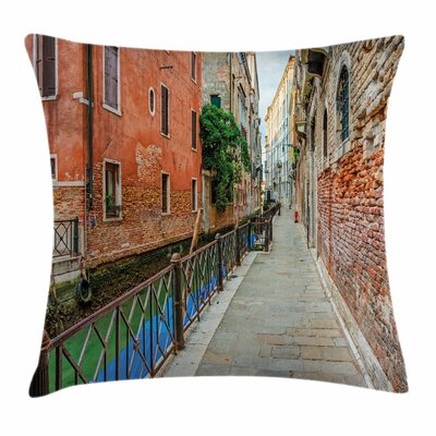 Empty Idyllic Streets Square Pillow Cover Size: 16 x 16