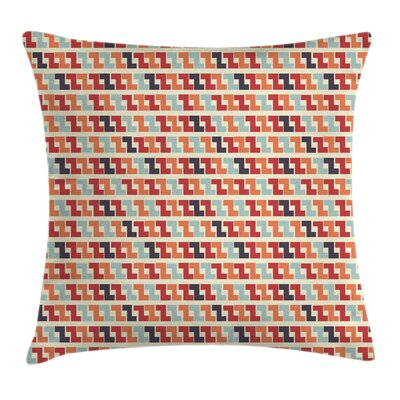 Geometric Zigzag Square Pillow Cover Size: 18 x 18