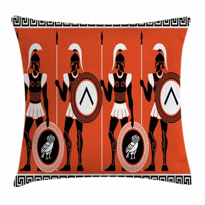 Historical Warrior Square Cushion Pillow Cover Size: 20 x 20