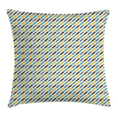 Lines Vintage Square Pillow Cover Size: 16 x 16