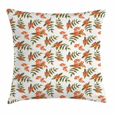 Botanical Foliage Nature Square Pillow Cover Size: 24 x 24