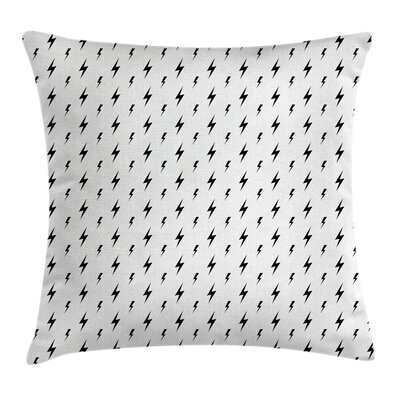 Modern Thunderbolts Zig Zag Cushion Pillow Cover Size: 20 x 20