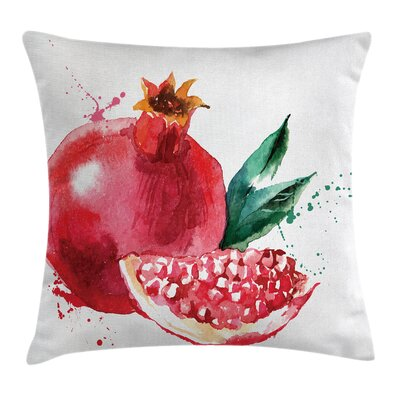 Fruit Hand Drawn Water Cushion Pillow Cover Size: 24 x 24