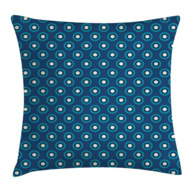 Circles Dots Cushion Pillow Cover Size: 24 x 24