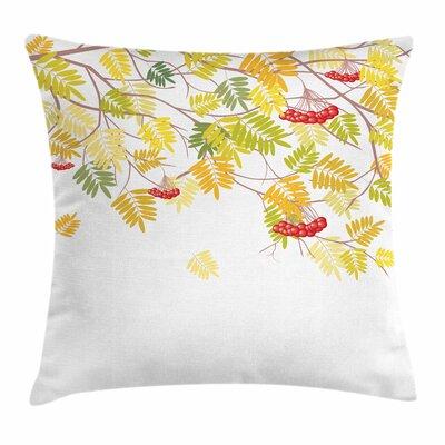 Vivid Fall Tree Square Pillow Cover Size: 24 x 24