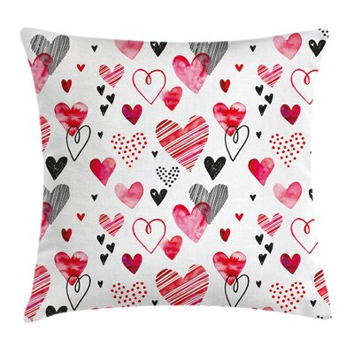 Modern Hearts Pillow Cover Size: 18 x 18