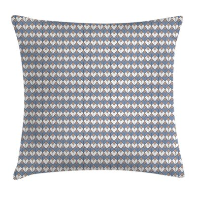 Nested Diamond Line Square Pillow Cover Size: 16 x 16
