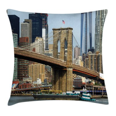 Brooklyn Bridge Pillow Cover Size: 20 x 20