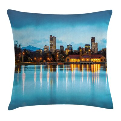 Ferril Lake at Morning Square Pillow Cover Size: 18 x 18