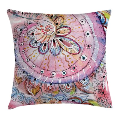 Arabesque Ethnic Floral Square Pillow Cover Size: 20 x 20