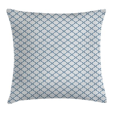Trellis Lattice Like Nostalgic Square Pillow Cover Size: 24