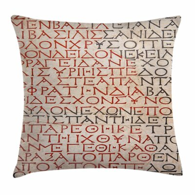 Old Latin Tombstone Square Cushion Pillow Cover Size: 18 x 18