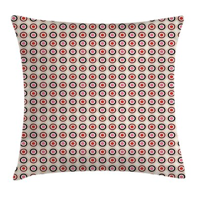 Polka Dots Square Pillow Cover Size: 16 x 16
