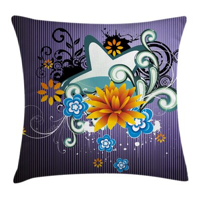 Floral Splash Pillow Cover Size: 18 x 18
