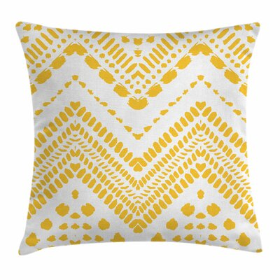 Chevron Tribal African Square Cushion Pillow Cover Size: 24 x 24
