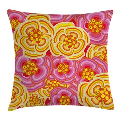 Waterproof Floral Pillow Cover with Zipper Size: 18 x 18