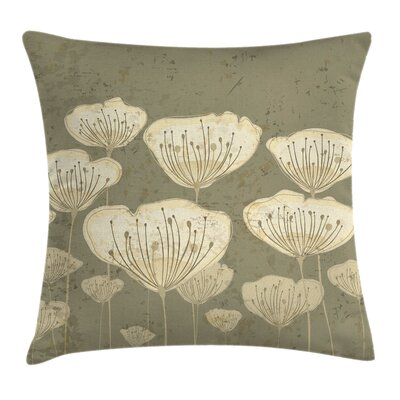Pastel Toned Blossoms Square Pillow Cover Size: 24 x 24
