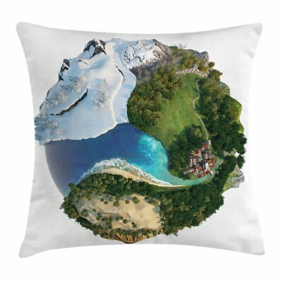 Earth Diverse Natural Lands Square Pillow Cover Size: 16 x 16