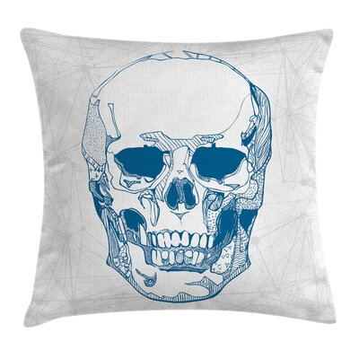 Skull Science Elements Square Pillow Cover Size: 18 x 18