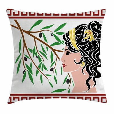 Aphrodite Profile Square Cushion Pillow Cover Size: 16 x 16