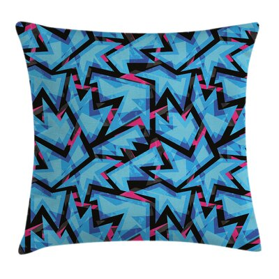 Modern Graphic Print Square Pillow Cover Size: 18 x 18