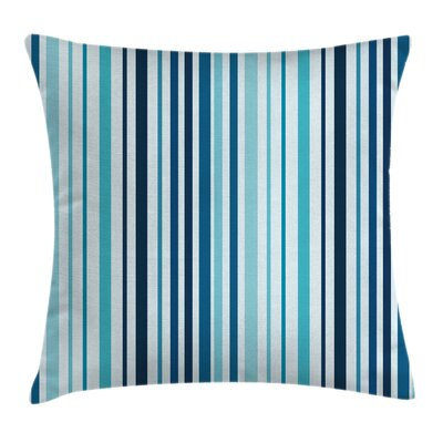 Nautical Striped Pastel Toned Square Pillow Cover Size: 16 x 16