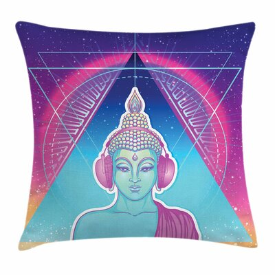 Indian God Headphones Square Cushion Pillow Cover Size: 16 x 16