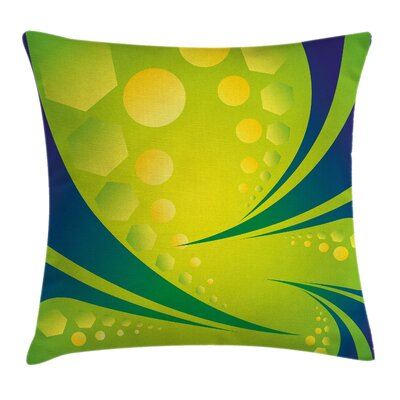Brazil Geometric Art Cushion Pillow Cover Size: 18 x 18