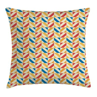 Diagonally Striped Squares Cushion Pillow Cover Size: 18 x 18