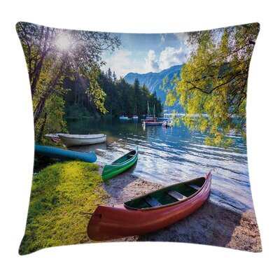 Boats Pillow Cover Size: 24 x 24