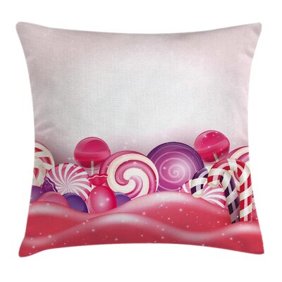 Modern Swirl Lollipop Square Pillow Cover Size: 16