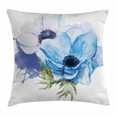 Anemone Rustic Blossoms Square Cushion Pillow Cover Size: 16 x 16
