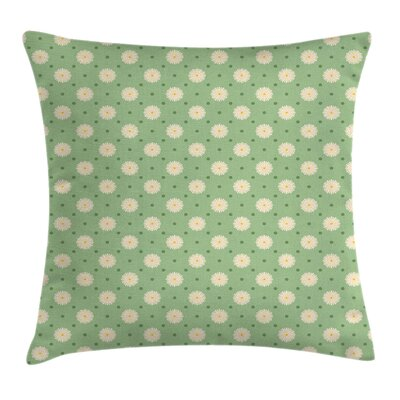 Spring Plants Yard Square Pillow Cover Size: 18 x 18