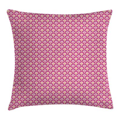 Overlapping Circles Square Pillow Cover Size: 16 x 16