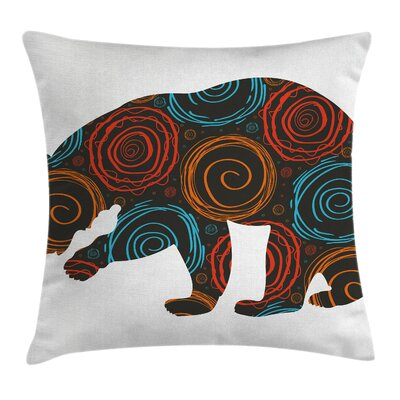 Stain Resistant Animal Pillow Cover with Zipper Size: 18 x 18