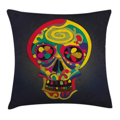 Skull Artistic Skull Cushion Pillow Cover Size: 16 x 16