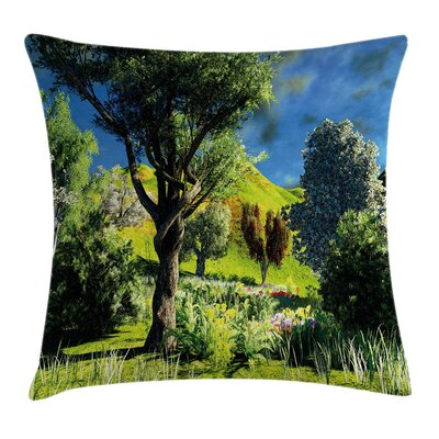 Wilderness Rural Scenery Square Pillow Cover Size: 24 x 24