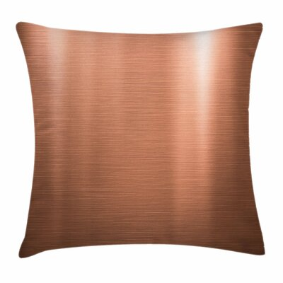 Brushed Plate Square Pillow Cover Size: 24 x 24