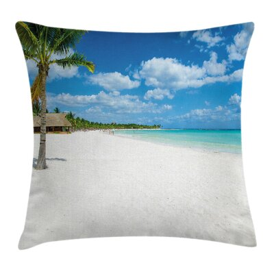 Beach Square Pillow Cover Size: 18 x 18