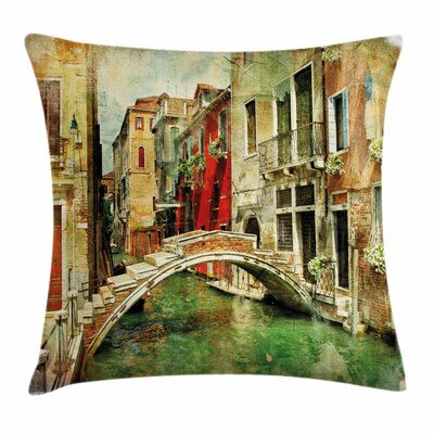 Historic Landscape Art Square Pillow Cover Size: 24 x 24