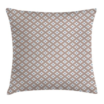 Circles Plus Signs Square Pillow Cover Size: 24 x 24