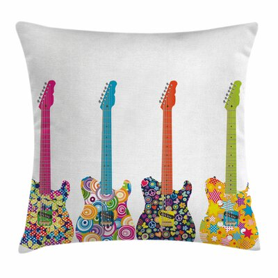 Electric Guitars Square Pillow Cover Size: 20 x 20
